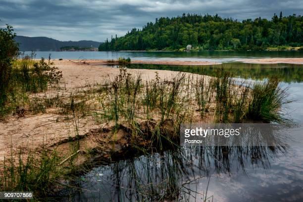 gargantua harbour - lake superior provincial park stock pictures, royalty-free photos & images