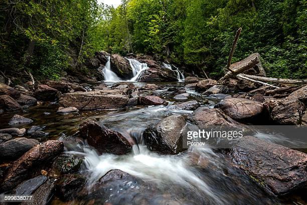 gargantua river falls - lake superior provincial park stock pictures, royalty-free photos & images