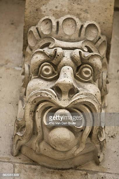 gargoyle face 01 - eric van den brulle stock pictures, royalty-free photos & images