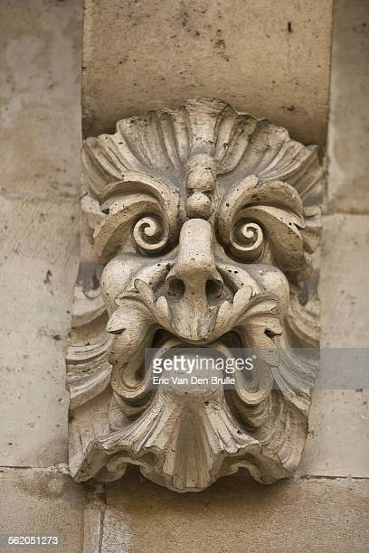 gargoyle face 02 - eric van den brulle stock pictures, royalty-free photos & images