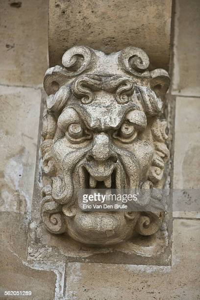 gargoyle face 03 - eric van den brulle stock pictures, royalty-free photos & images