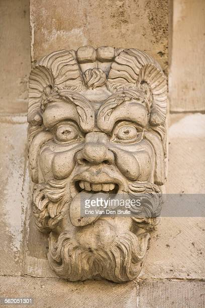 gargoyle face 04 - eric van den brulle stock pictures, royalty-free photos & images