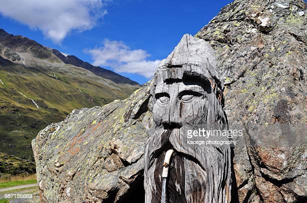 Gargoyle on a rock, Oetztal Valley, Obergurgl.