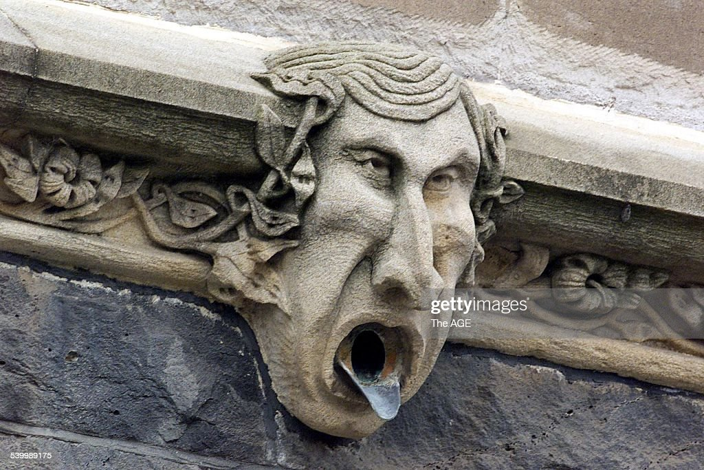 Gargoyle on the side of St. Patricks Cathedral that looks like Jeff Kennett. TH : News Photo