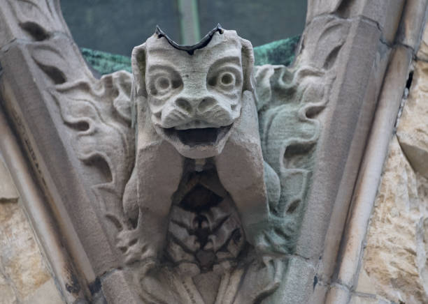 Gargoyles At Christ Church Cathedral Which Is An Anglican Gothic Revival Building In St Catherine