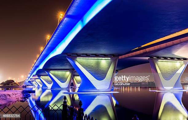 Garhoud Bridge in Dubai with Festival City in the background