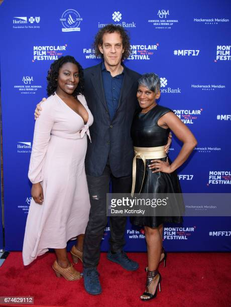 Gari McIntyre Producer Steven Cantor and Paula Dofat arrive at Montclair Film Festival 2017 Opening Night on April 28 2017 in Montclair New Jersey