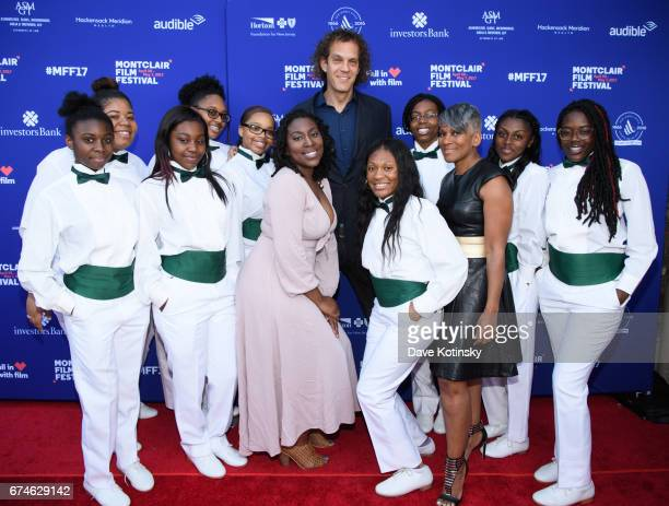 Gari McIntyre Producer Steven Cantor Paula Dofat and the Xinos Step Team arrive at Montclair Film Festival 2017 Opening Night on April 28 2017 in...