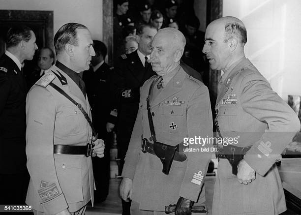 Gariboldi Italo Officer Italy*2004187909 as commander of Italian troops on the Eastern Front on a reception of Ambassador Dino Alfieri in Berlin on...