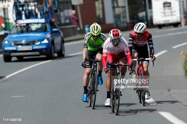Garikoitz Bravo of Spain and Team Euskadi Basque Country - Murias / Julien Bernard of France and Team Trek - Segafredo / Jhon Darwin Atapuma of...