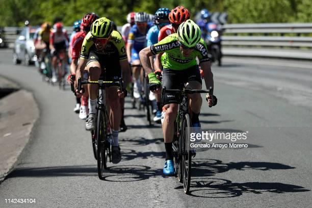 Garikoitz Bravo of Spain and Team Euskadi Basque Country - Murias / Damien Howson of Australia and Team Mitchelton - Scott / during the 59th...
