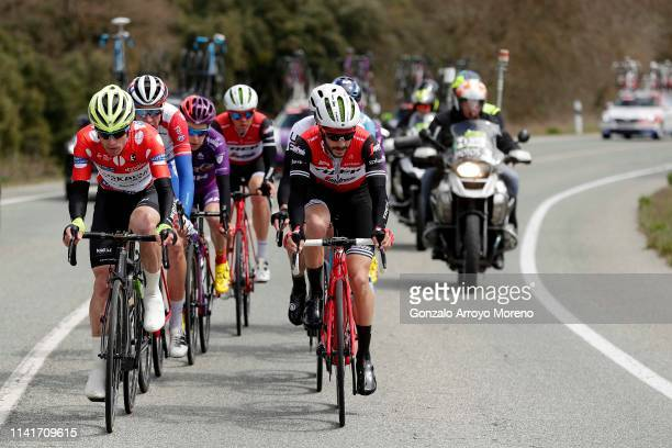 Garikoitz Bravo of Spain and Team Euskadi Basque Country - Murias Polka Dot Mountain Jersey / Bruno Armirail of France and Team Groupama - FDJ /...