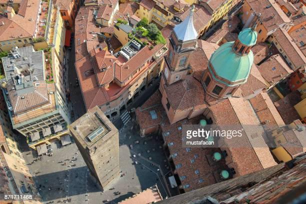 Garisenda tower and Parish of Santi Bartolomeo and Gaetano