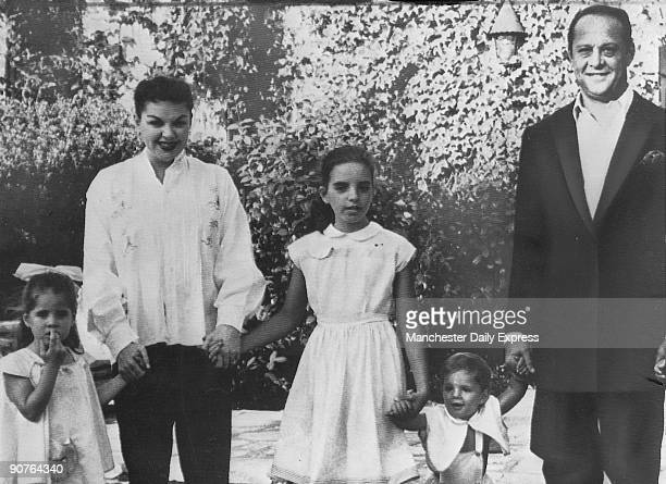Garland with third husband Sidney Luft, son Joseph Luft , at 21 months, elder daughter Liza Minnelli , and second daughter Lorna Luft . Garland...