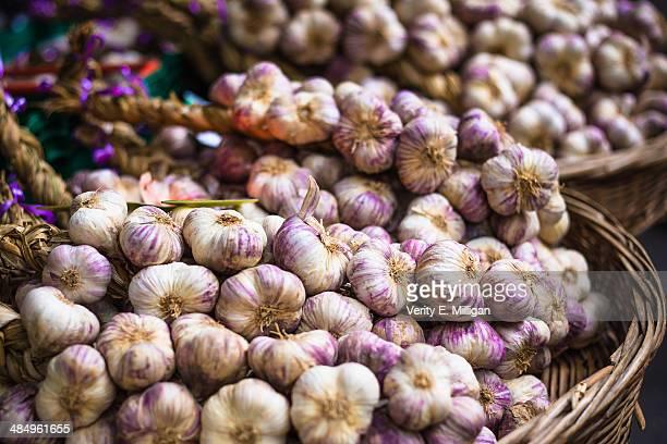 Garlands of Garlic at Farmer's Market