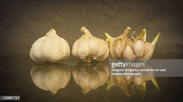 garlic and reflections - gregoria gregoriou crowe fine art and creative photography fotografías e imágenes de stock