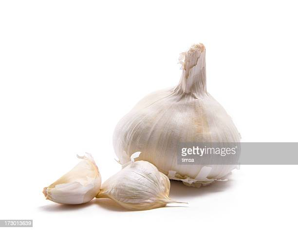 Garlic head and two cloves