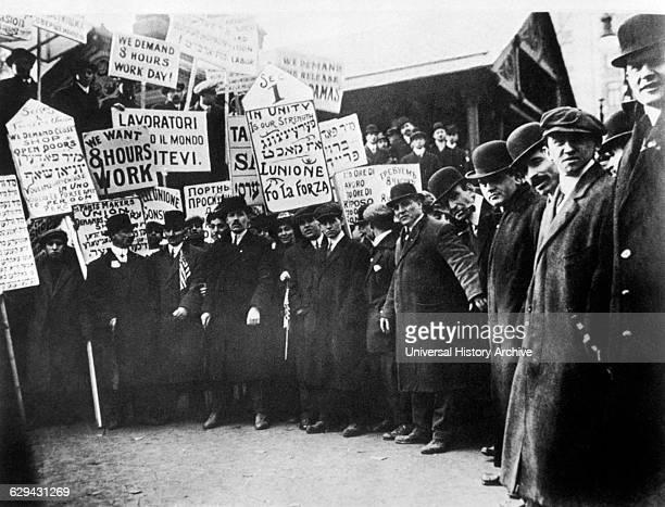 Garment Workers on Strike New York City USA circa 1913