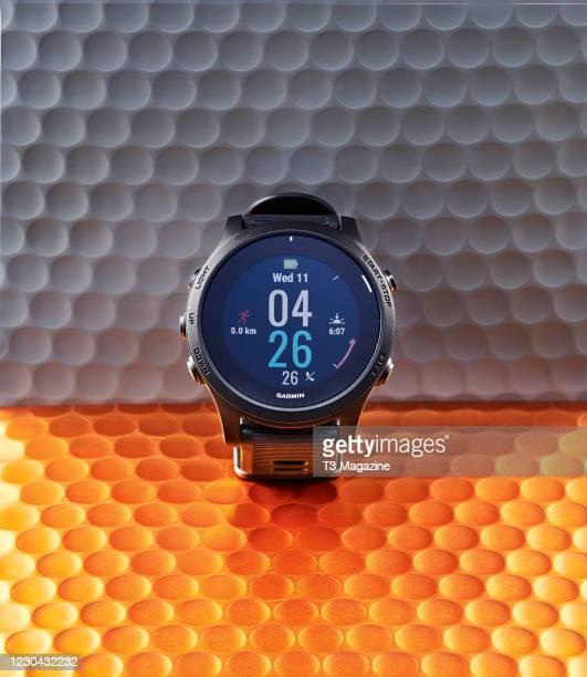 Garmin Forerunner 945 fitness smartwatch, taken on March 11, 2020.