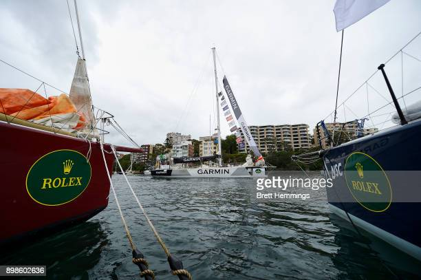 Garmin sails out of the CYCA in preparation for the 2017 Sydney to Hobart on December 26 2017 in Sydney Australia