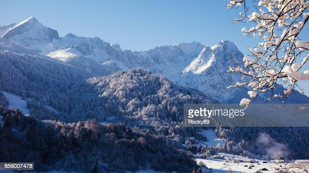 Garmisch-Partenkirchen in de Winter