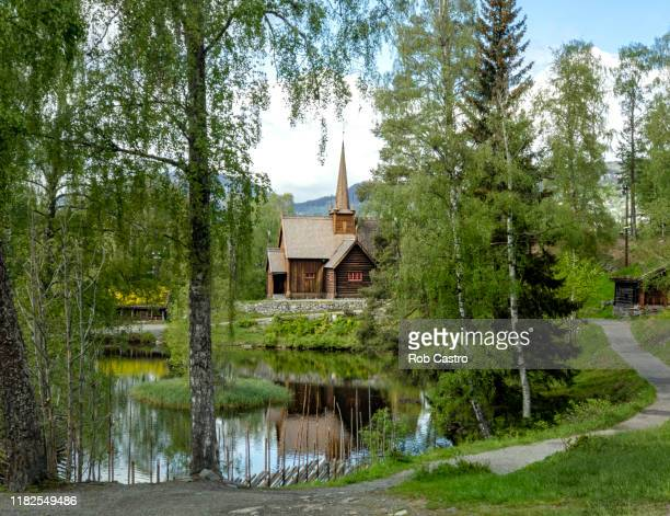 garmo stave church - rob castro stock pictures, royalty-free photos & images