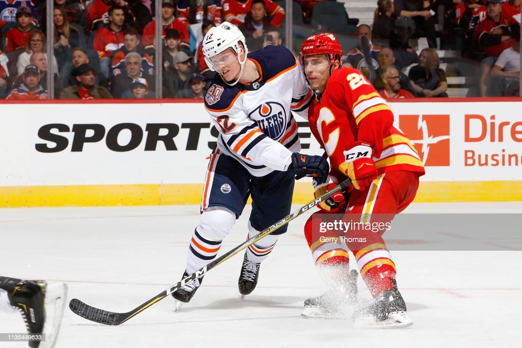 check out 5d1d1 187db Garnet Hathaway of the Calgary Flames skates against Colby ...