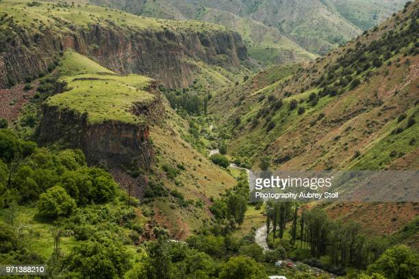 garni river gorge - armenia stock pictures, royalty-free photos & images