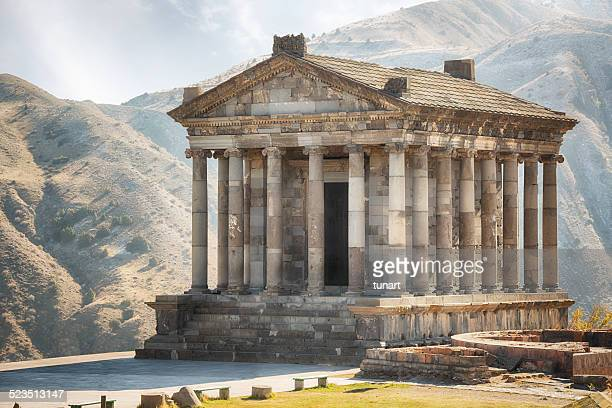 garni temple, armenia - armenia stock pictures, royalty-free photos & images