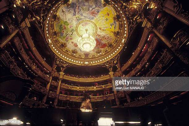 Garnier opera in Paris France Ceiling painted by Marc Chagall