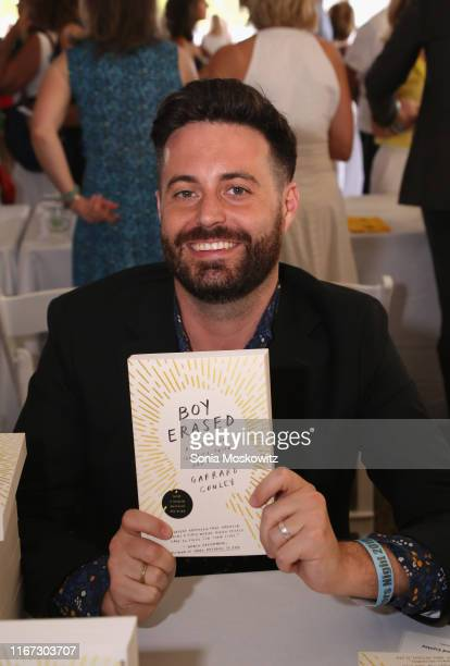 Garrard Conley at the East Hampton Library's 15th Annual Authors Night Benefit on August 10, 2019 in Amagansett, New York.