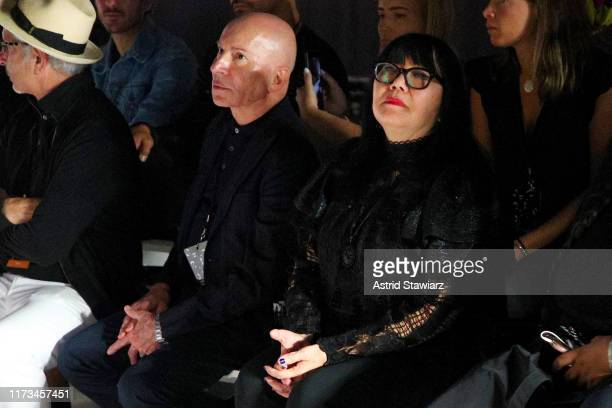 Garren and designer Anna Sui during rehearsals at the Anna Sui front row during New York Fashion Week The Shows at Gallery I at Spring Studios on...
