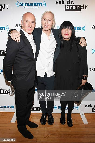 Garren Dr Frederic Brandt and Anna Sui attends Dr Fredric Brandt's SiriusXM launch event at SiriusXM Studio on September 26 2011 in New York City