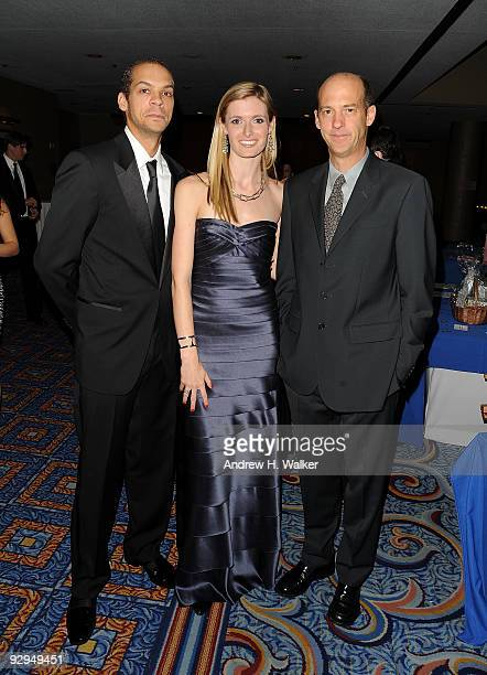 """Garren Givens, Alexandra Reeve Givens and actor Anthony Edwards attend the Christopher & Dana Reeve Foundation 19th Annual """"A Magical Evening"""" Gala..."""