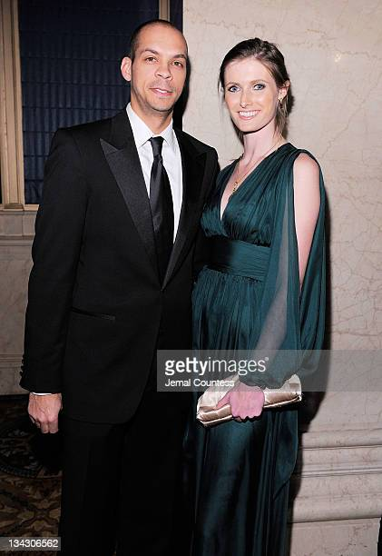 Garren Givens and Alexandra Reeve attend Christopher Dana Reeve Foundation's A Magical Evening Gala at Cipriani Wall Street on November 30 2011 in...