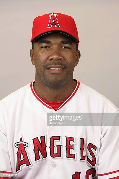 Garret Anderson of the Los Angeles Angels of Anaheim poses for a portrait during photo day at Tempe Diablo Stadium on February 24 2005 in Tempe...