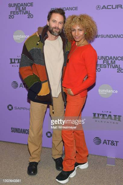 Garret Dillahunt and Michelle Hurd attend the 2020 Sundance Film Festival Sergio Premiere at Eccles Center Theatre on January 28 2020 in Park City...