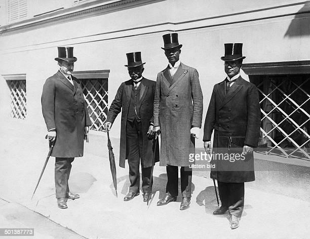 Garretson Wilmot Gibson Liberian politician President 19001904 From left NN former president Gibson Liberian VicePresident Dorsen lawyer Dunbar on a...