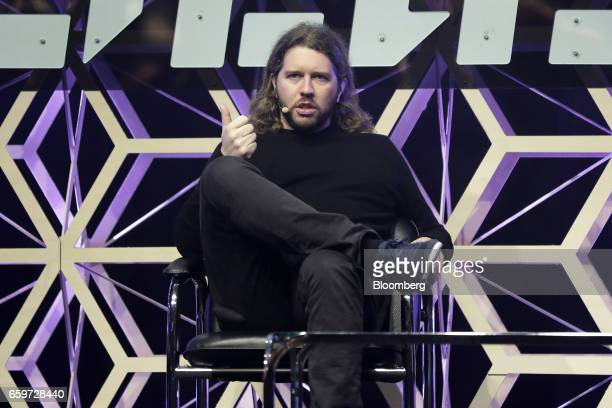 Garrett Camp cofounder and chairman of Uber Technologies Inc speaks during the Slush Tokyo startup event in Tokyo Japan on Wednesday March 29 2017...