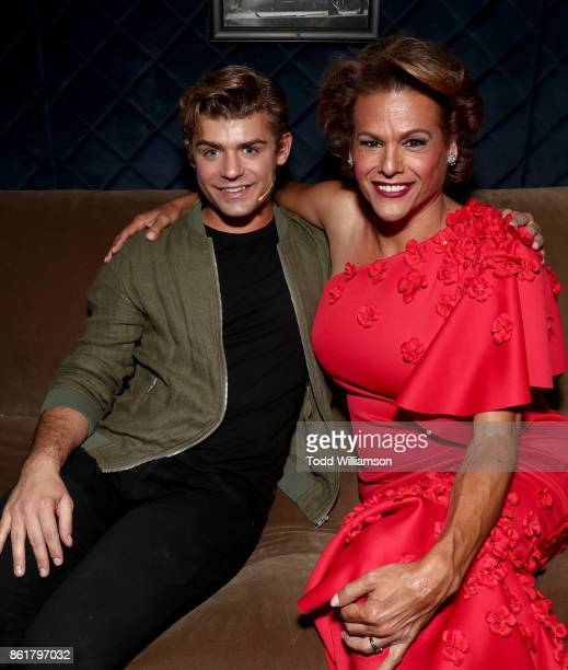 Garrett Clayton and Alexandra Billings attend National Breast Cancer Coalition Fund's 17th Annual Les Girls Cabaret at Avalon Hollywood on October 15...