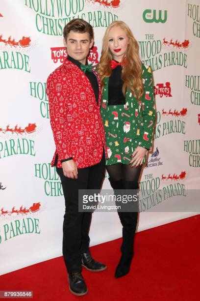 Garrett Clayton and Elizabeth Stanton at 86th Annual Hollywood Christmas Parade on November 26 2017 in Hollywood California
