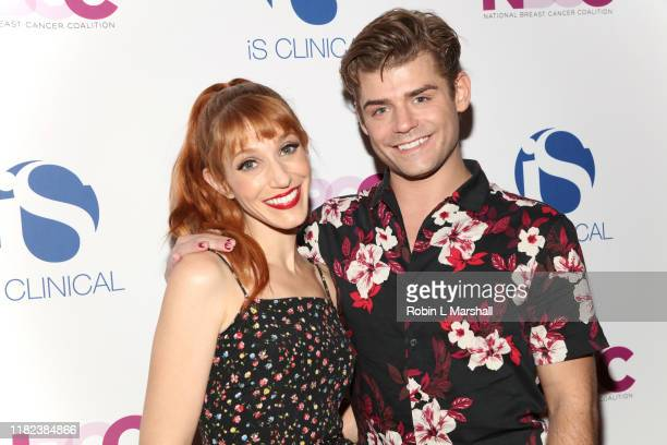 Garrett Clayton and Gwen Hollander attend the National Breast Cancer Coalition's 19th Annual Les Girls at Avalon Hollywood on October 20, 2019 in Los...