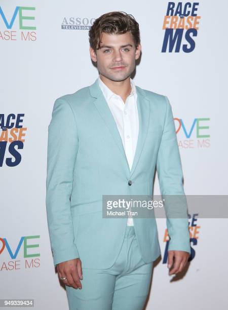 Garrett Clayton arrives to the 25th Annual Race To Erase MS Gala held at The Beverly Hilton Hotel on April 20 2018 in Beverly Hills California