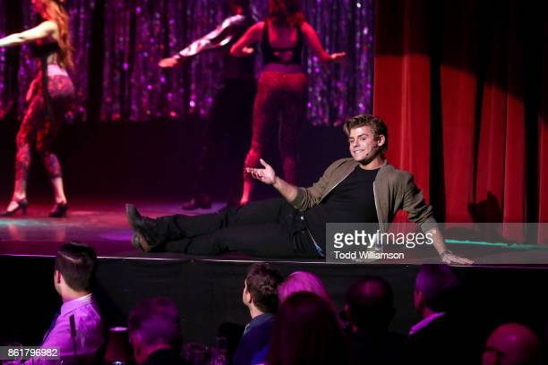 Garrett Clayton performs onstage at National Breast Cancer Coalition Fund's 17th Annual Les Girls Cabaret at Avalon Hollywood on October 15 2017 in...