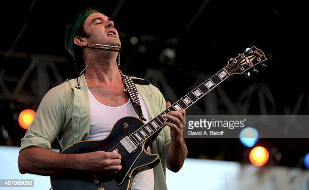 Garrett Dutton as G Love of G Love Special Sauce performs live at the American Music Festival on September 5 2015 in Virginia Beach Virginia
