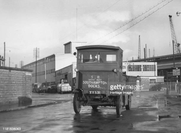 Garrett electric truck at Southampton docks. Creator: Unknown.
