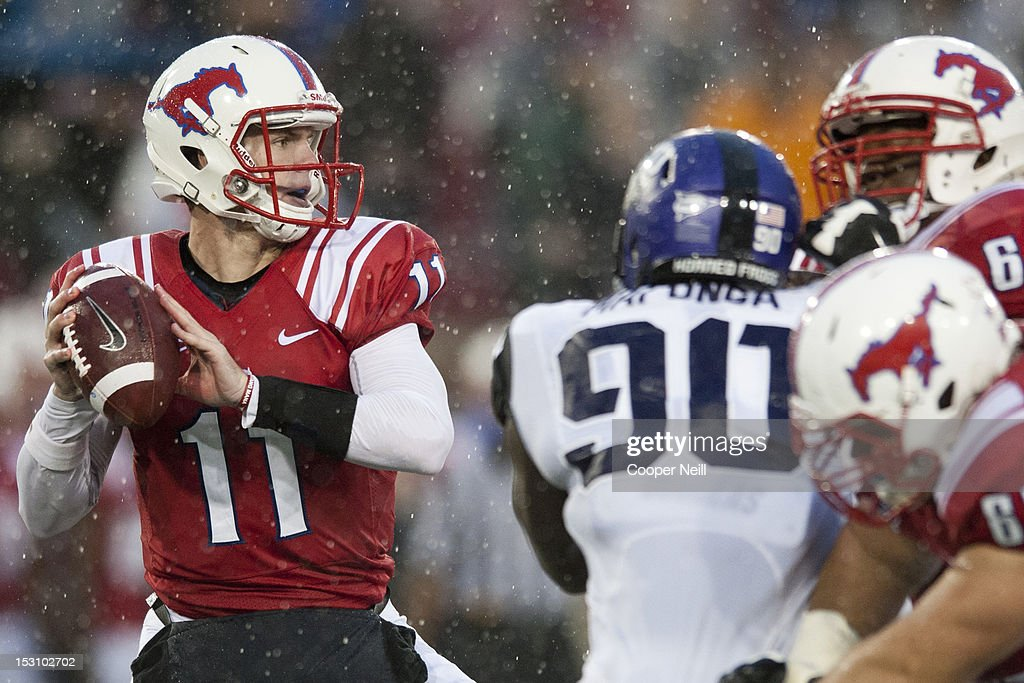 Garrett Gilbert Of The Smu Mustangs Throws A Pass Against The Tcu News Photo Getty Images