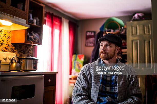 Garrett Guindon photographed Monday April 4 2016 at his Saco apartment is a medical marijuana patient who now uses cannabis instead of opiates to...