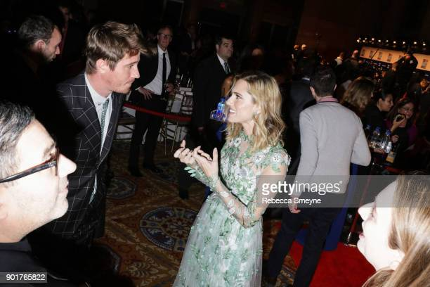 Garrett Hedlund and Allison Williams attend the 2017 IFP Gotham Awards at Cipriani Wall Street on November 27 2017 in New York NY