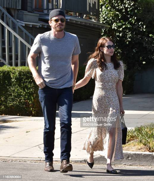 Garrett Hedlund and Emma Roberts are seen on August 10 2019 in Los Angeles California